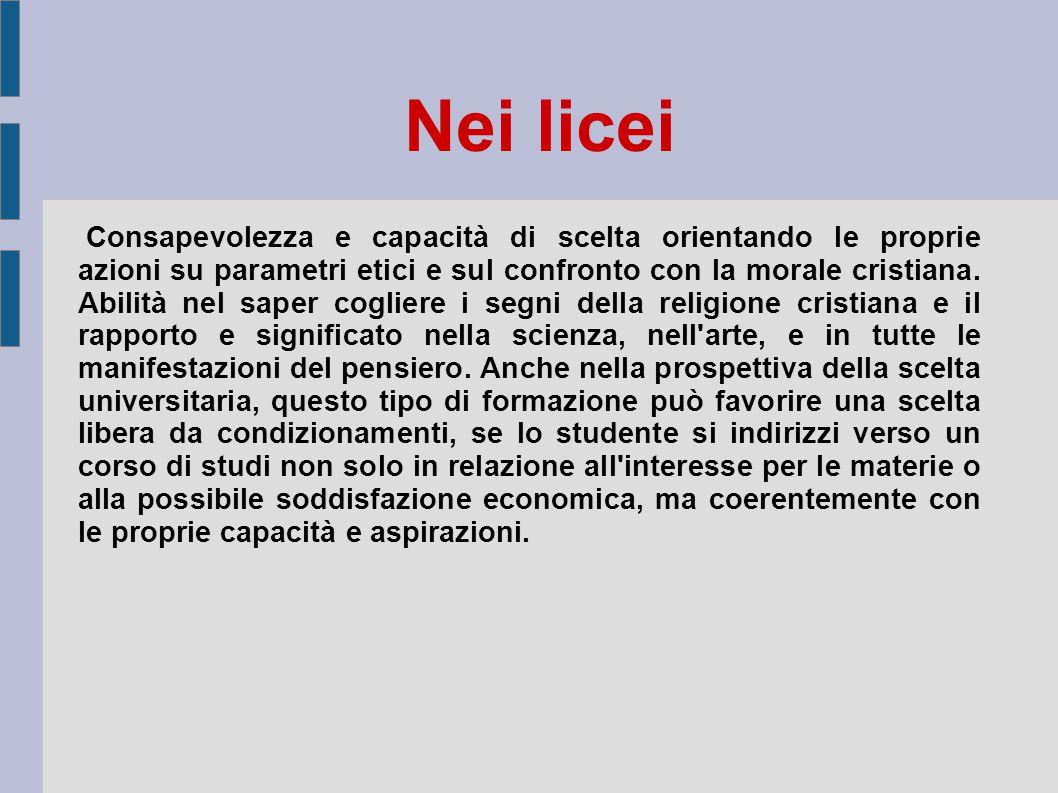 Nei licei