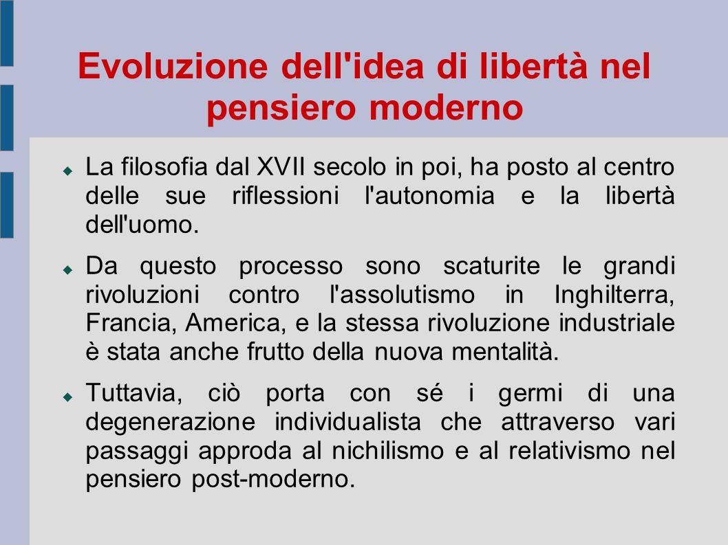 Evoluzione dell idea di libertà nel pensiero moderno