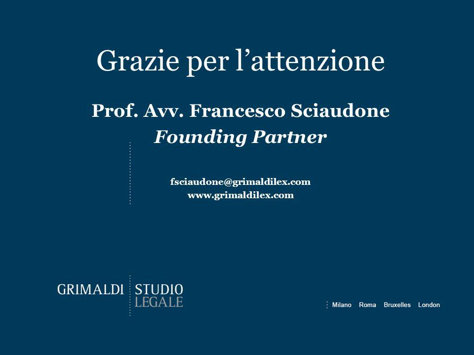 Prof. Avv. Francesco Sciaudone