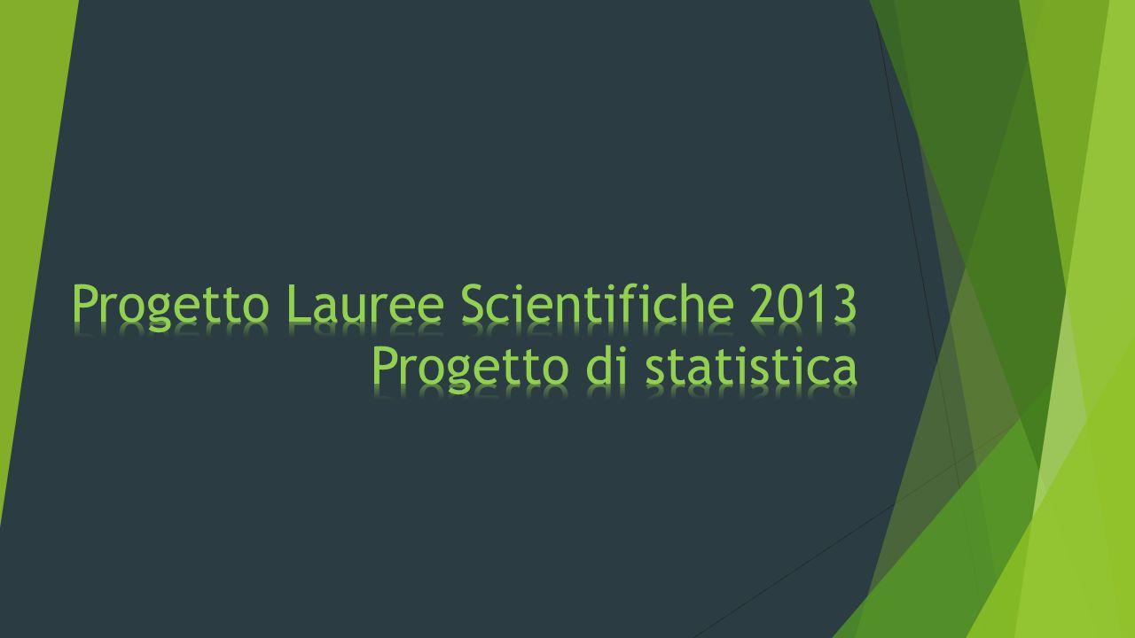 Progetto Lauree Scientifiche 2013 Progetto di statistica