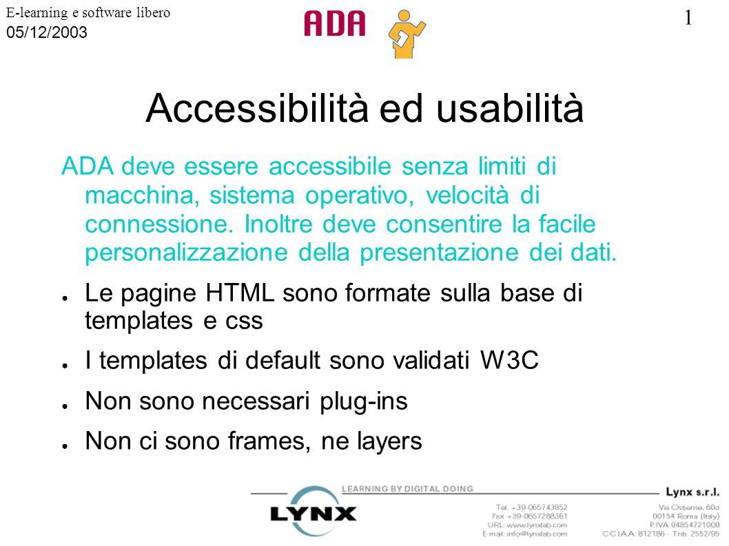 Accessibilità ed usabilità