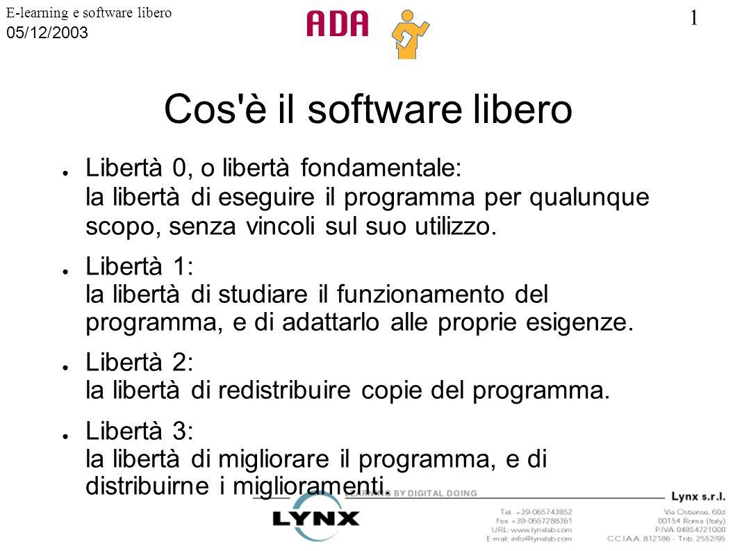Cos è il software libero