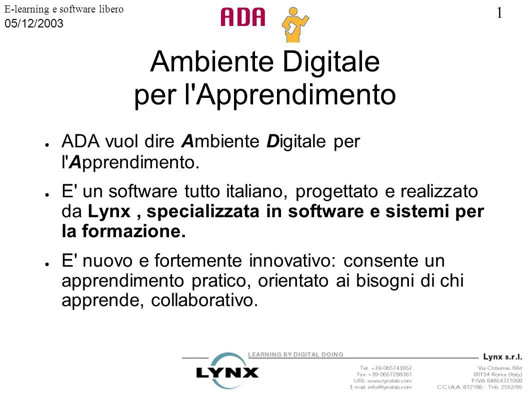 Ambiente Digitale per l Apprendimento