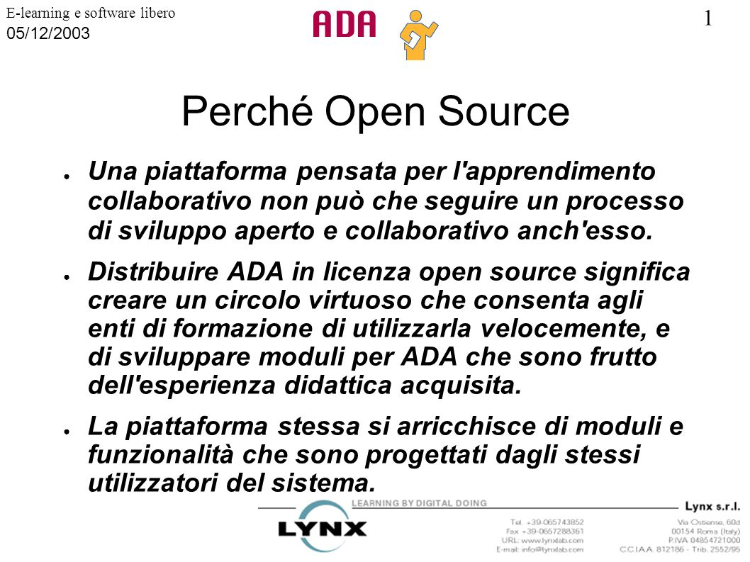 Perché Open Source