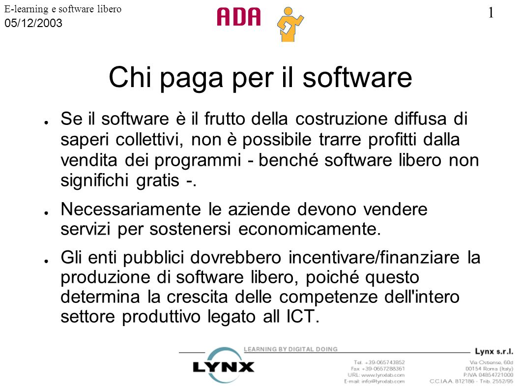 Chi paga per il software