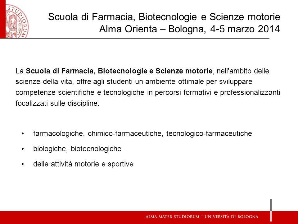 Scuola di Farmacia, Biotecnologie e Scienze motorie Alma Orienta – Bologna, 4-5 marzo 2014