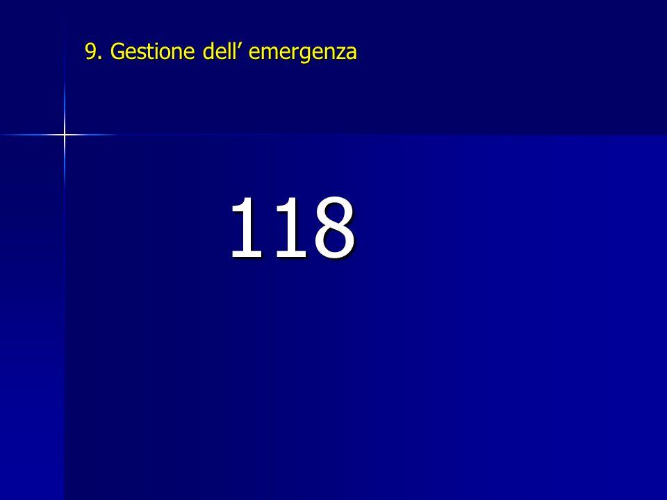 9. Gestione dell' emergenza