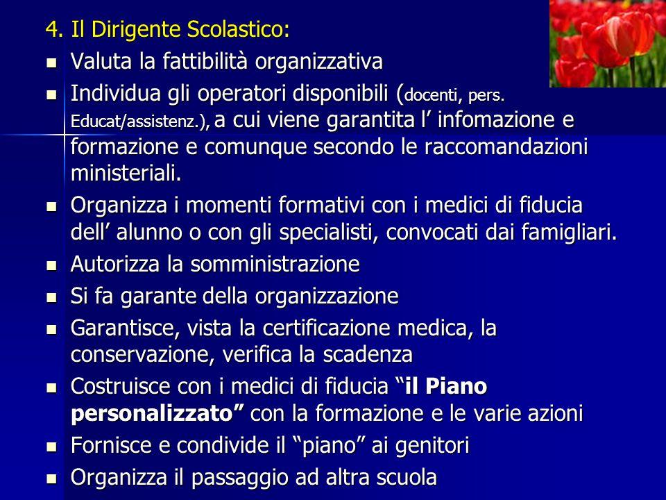 4. Il Dirigente Scolastico: