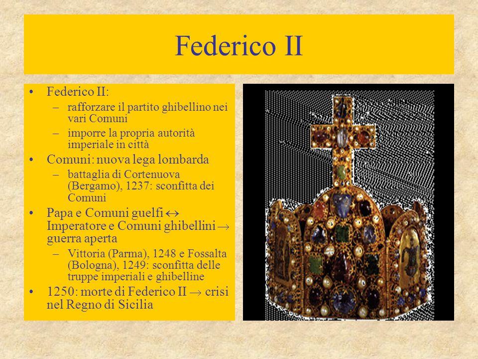 Federico II Federico II: Comuni: nuova lega lombarda