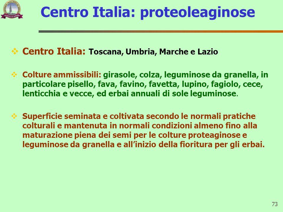Centro Italia: proteoleaginose