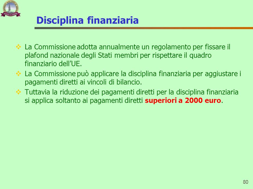 Disciplina finanziaria