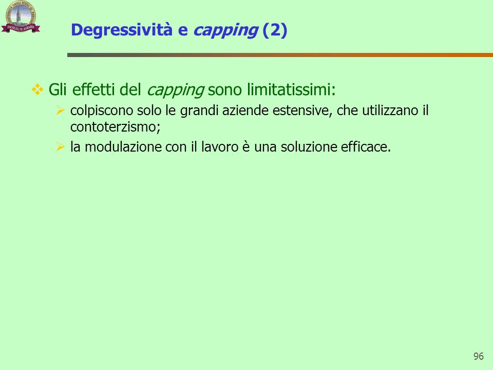 Degressività e capping (2)