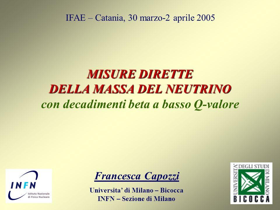 Universita' di Milano – Bicocca INFN – Sezione di Milano