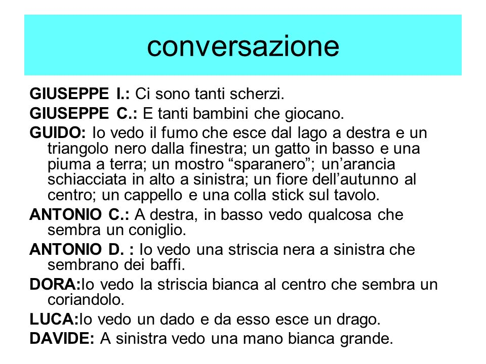 conversazione GIUSEPPE I.: Ci sono tanti scherzi.