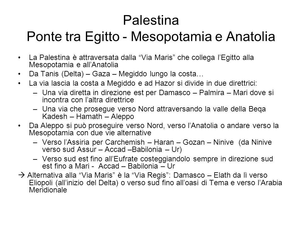 Palestina Ponte tra Egitto - Mesopotamia e Anatolia