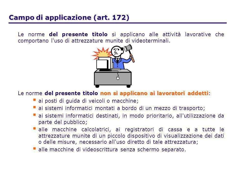 Campo di applicazione (art. 172)