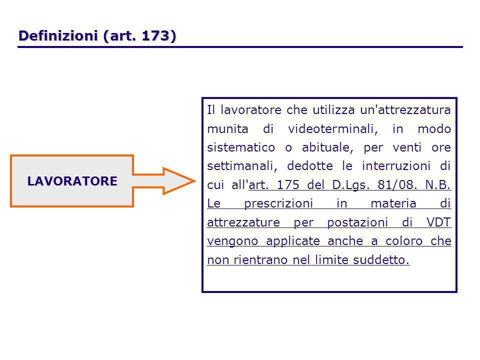 Definizioni (art. 173)