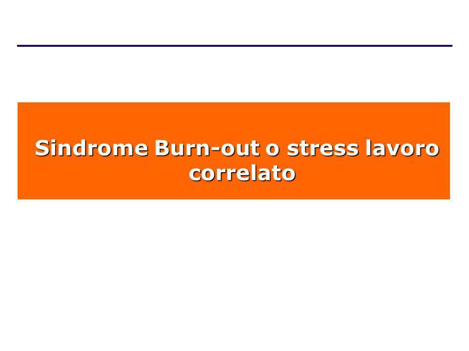 Sindrome Burn-out o stress lavoro correlato
