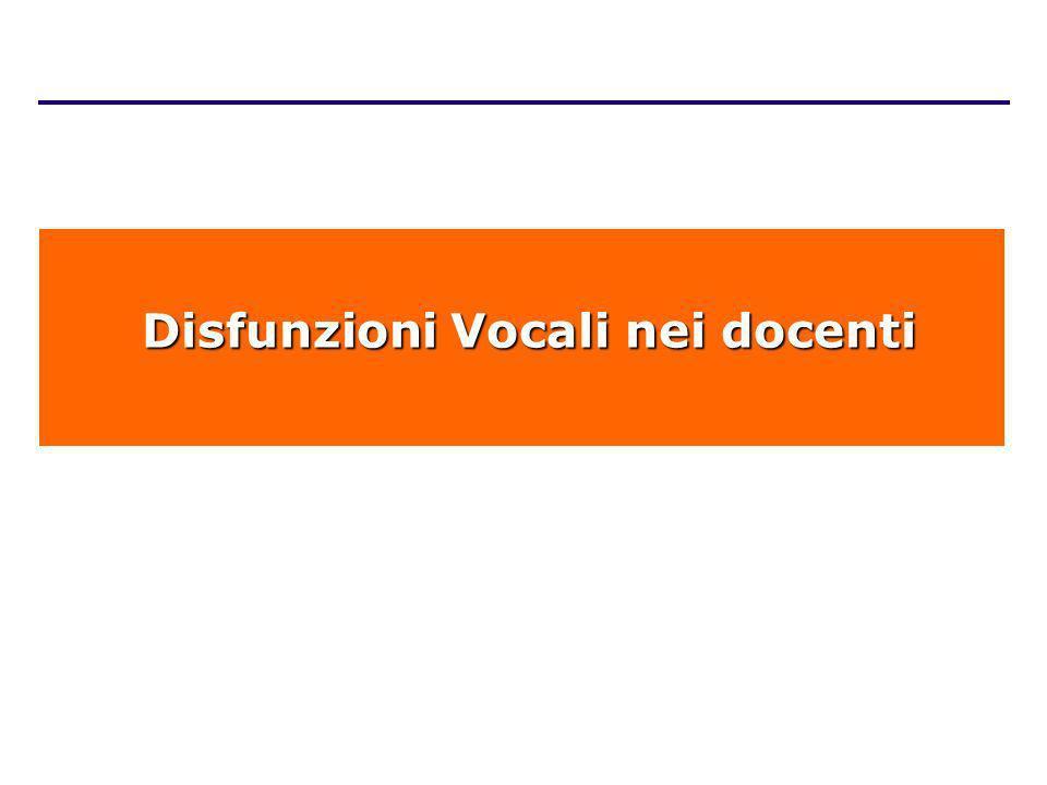 Disfunzioni Vocali nei docenti