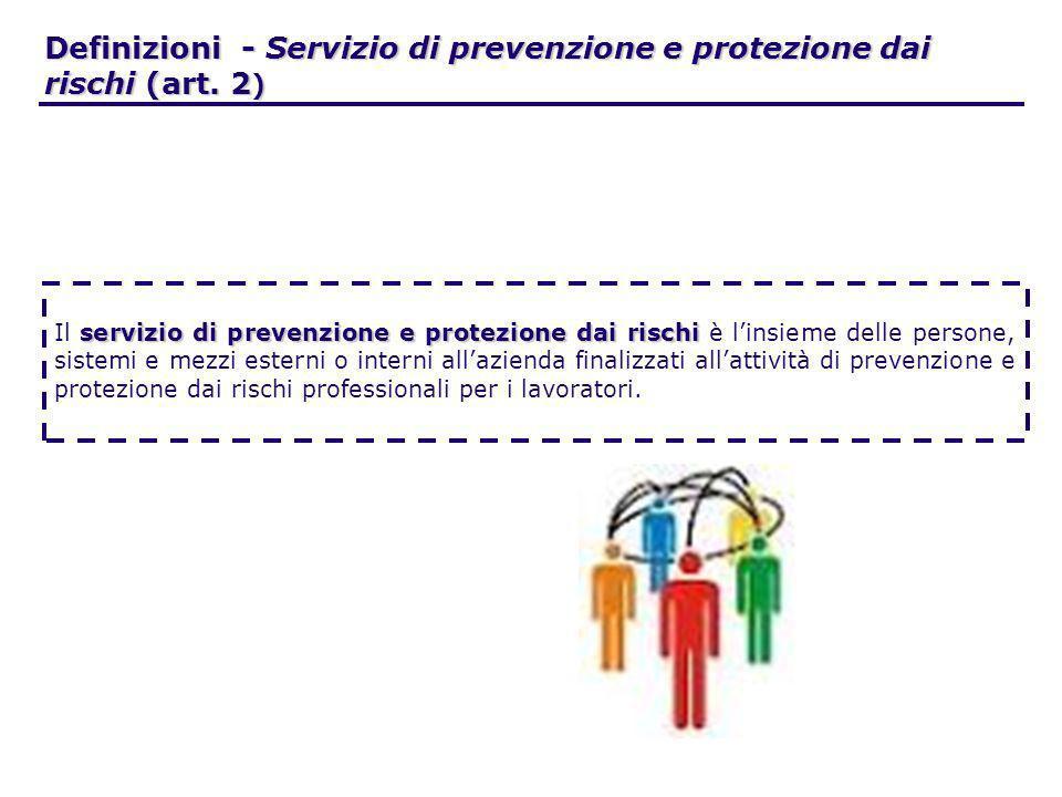 Definizioni - Servizio di prevenzione e protezione dai rischi (art. 2)