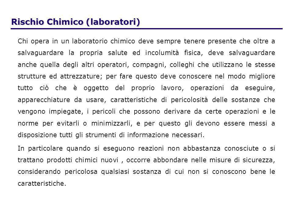 Rischio Chimico (laboratori)