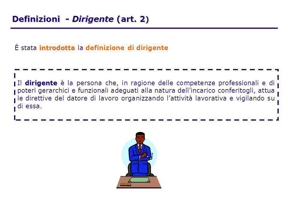 Definizioni - Dirigente (art. 2)