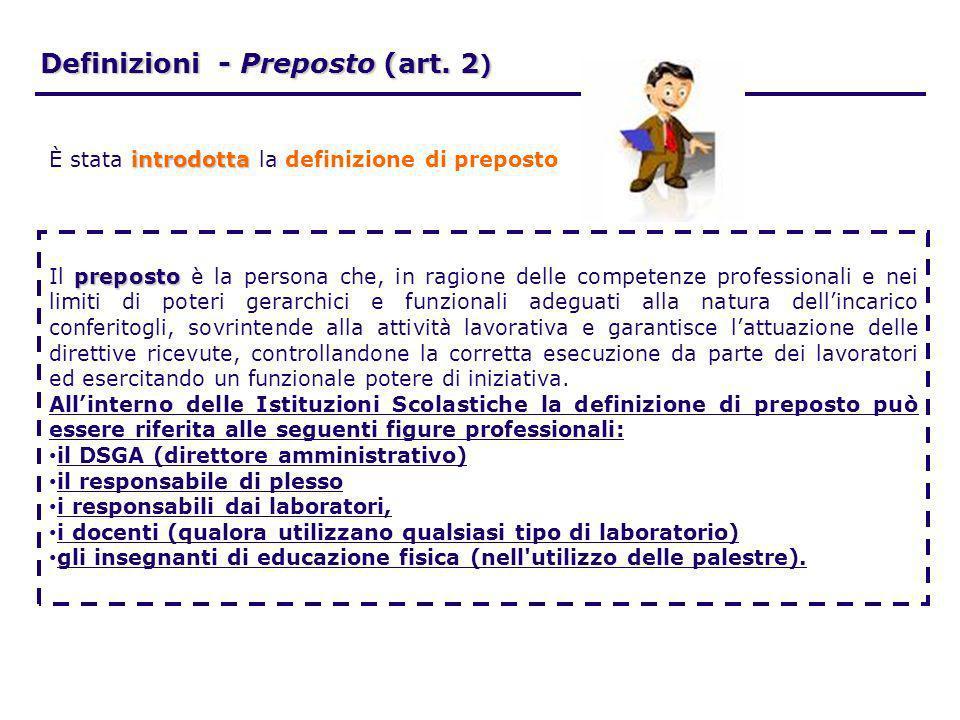 Definizioni - Preposto (art. 2)