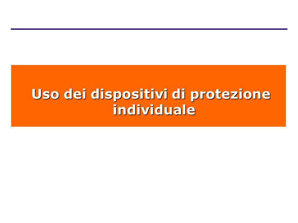 Uso dei dispositivi di protezione individuale