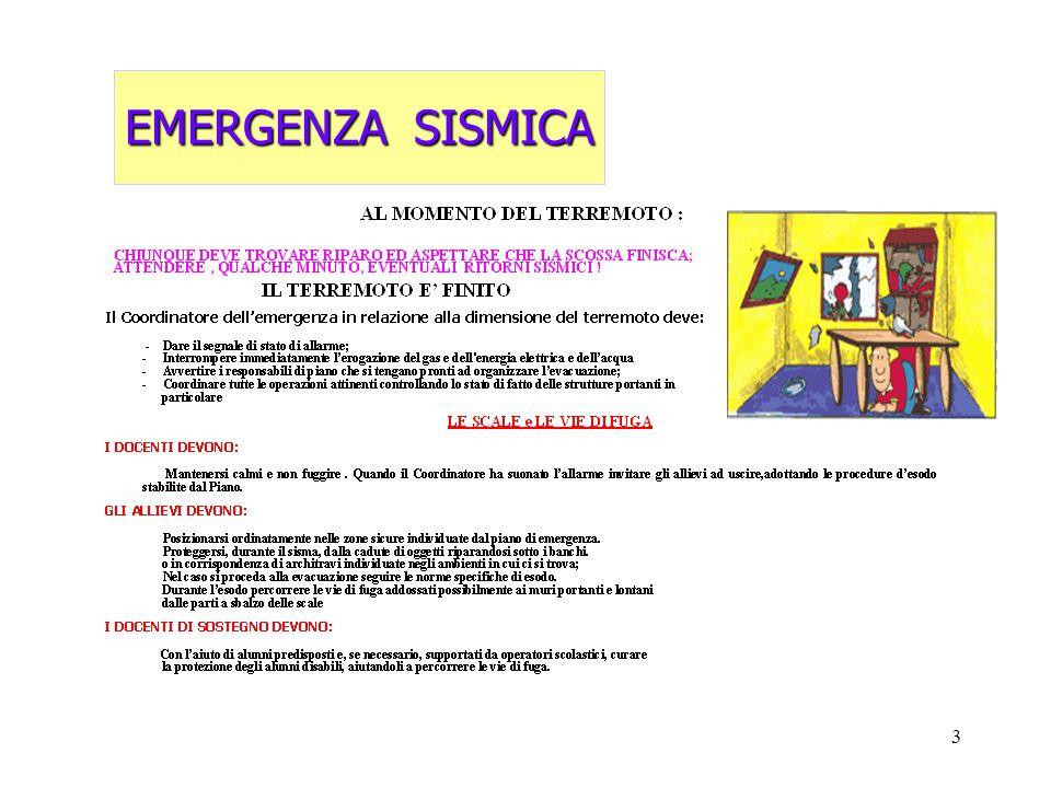 EMERGENZA SISMICA