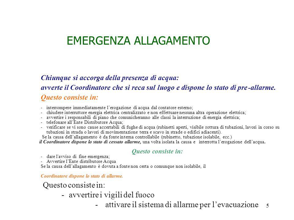 EMERGENZA ALLAGAMENTO