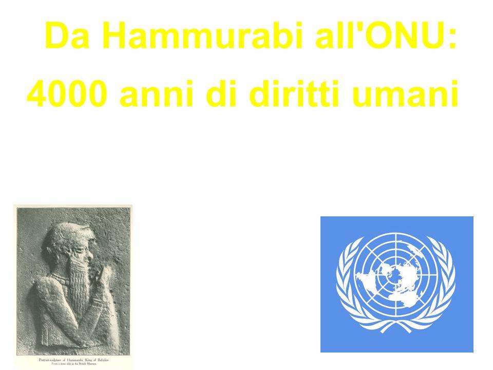 Da Hammurabi all ONU: 4000 anni di diritti umani