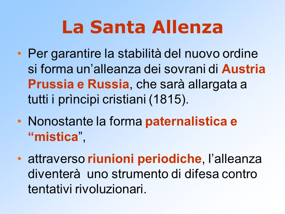 La Santa Allenza