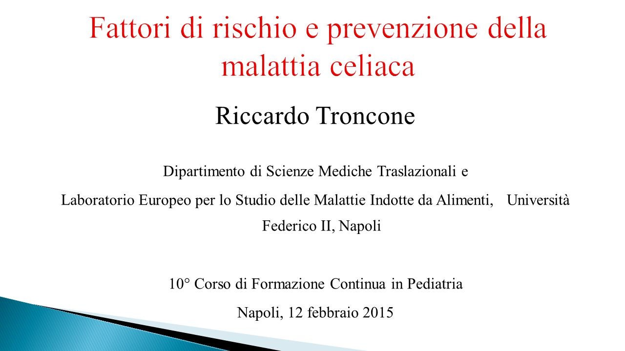 Fattori di rischio e prevenzione della malattia celiaca