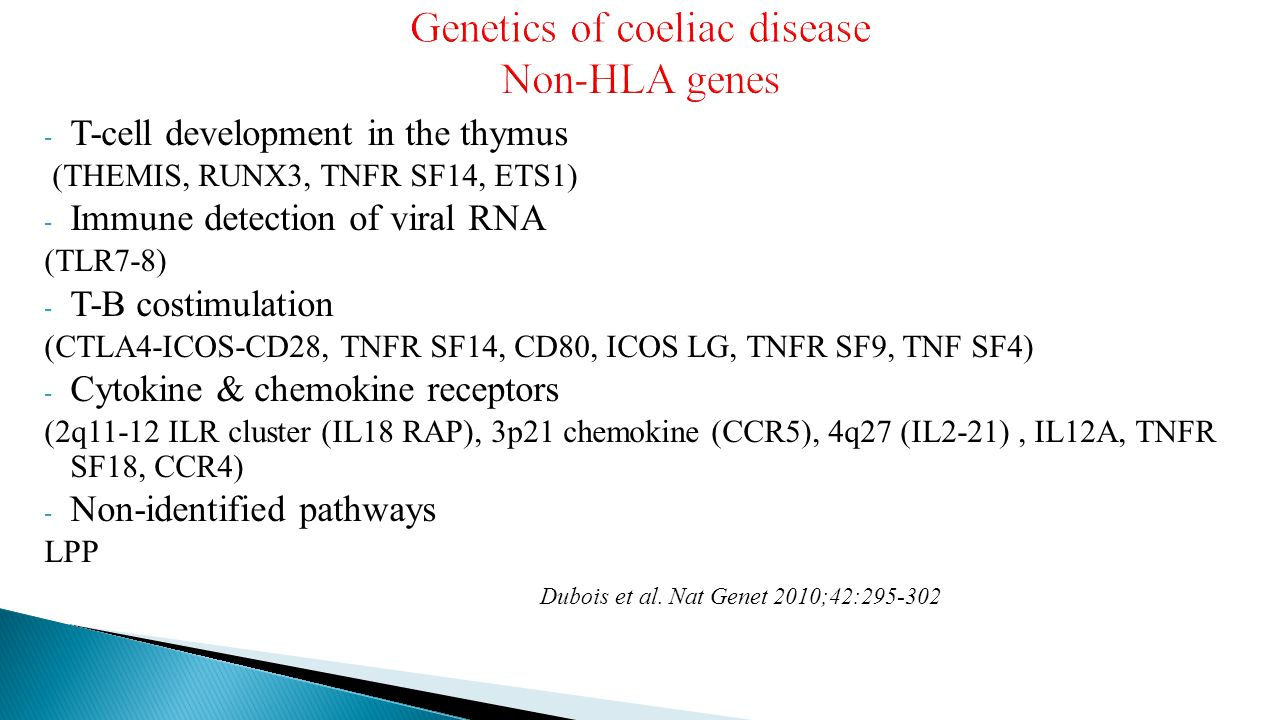 Genetics of coeliac disease Non-HLA genes