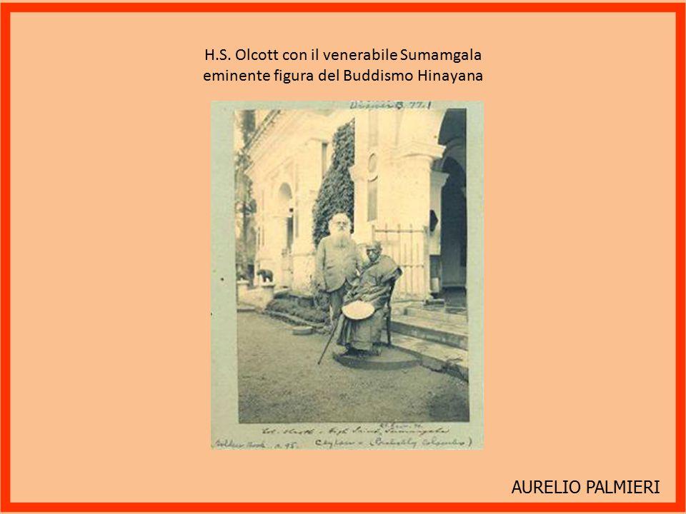 H.S. Olcott con il venerabile Sumamgala eminente figura del Buddismo Hinayana