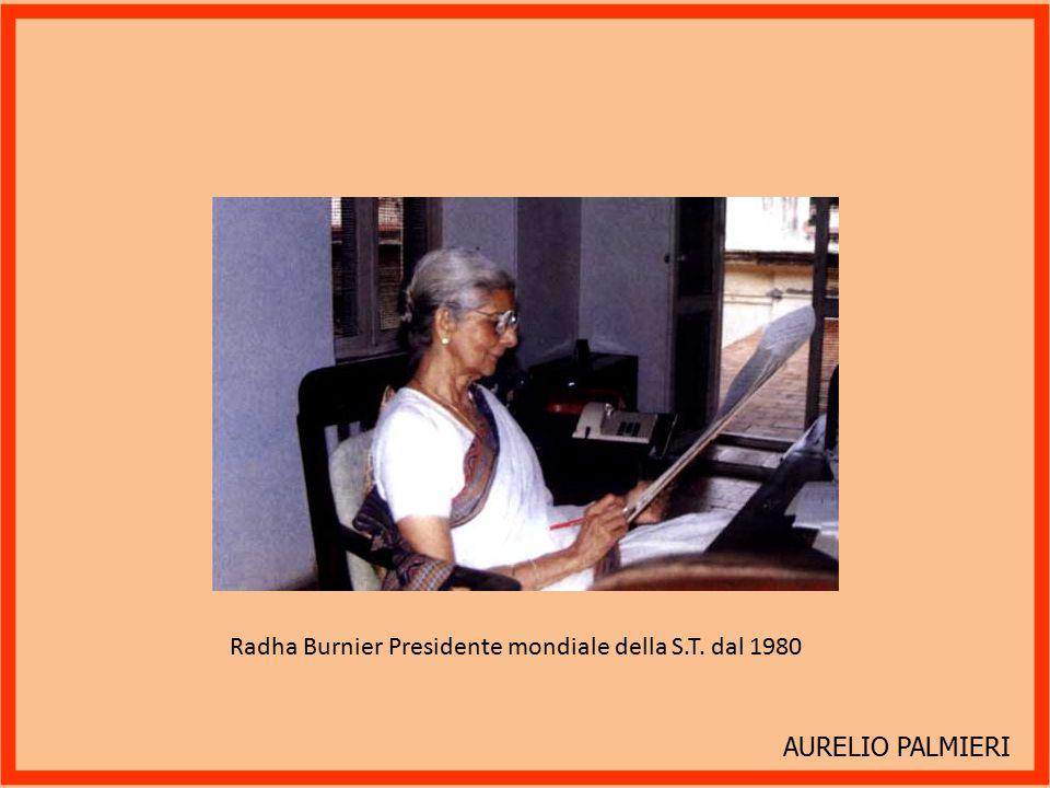 Radha Burnier Presidente mondiale della S.T. dal 1980