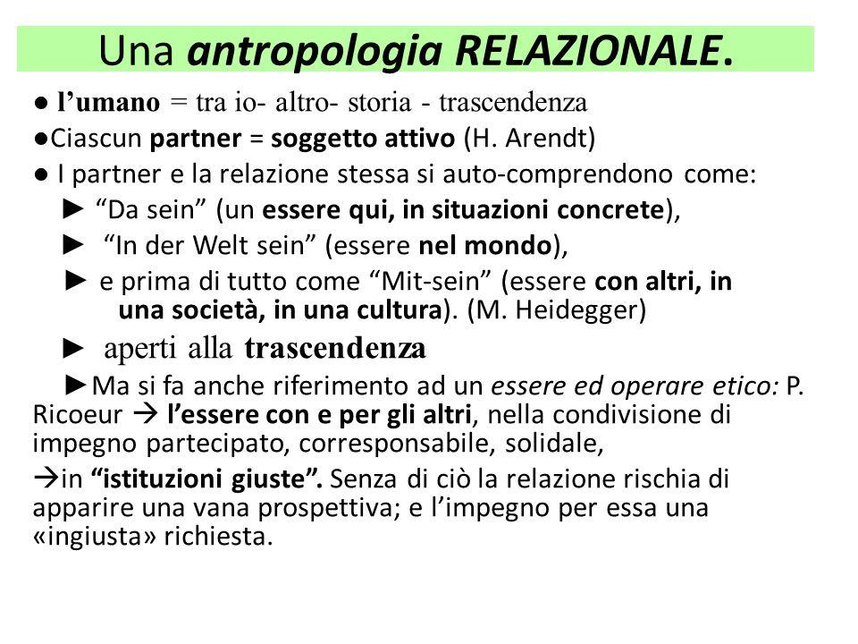 Una antropologia RELAZIONALE.