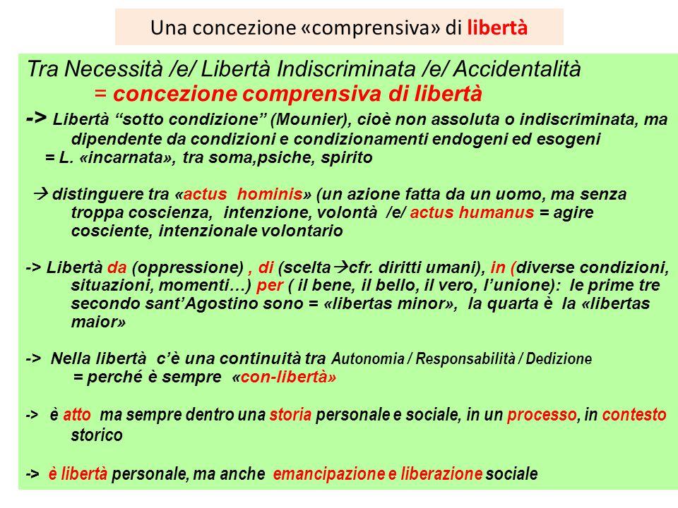 Una concezione «comprensiva» di libertà