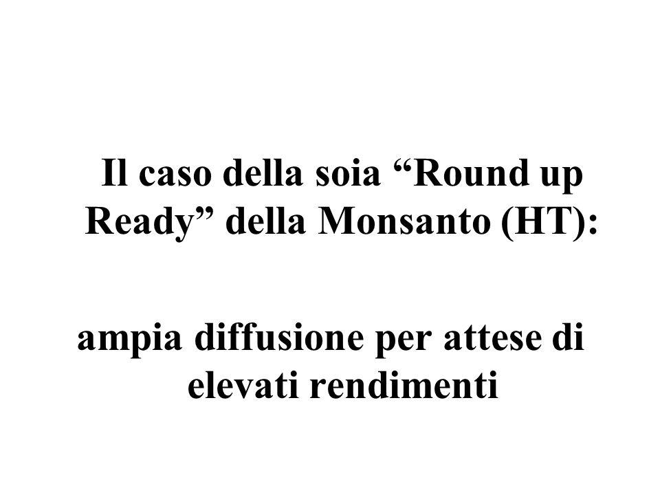 Il caso della soia Round up Ready della Monsanto (HT):
