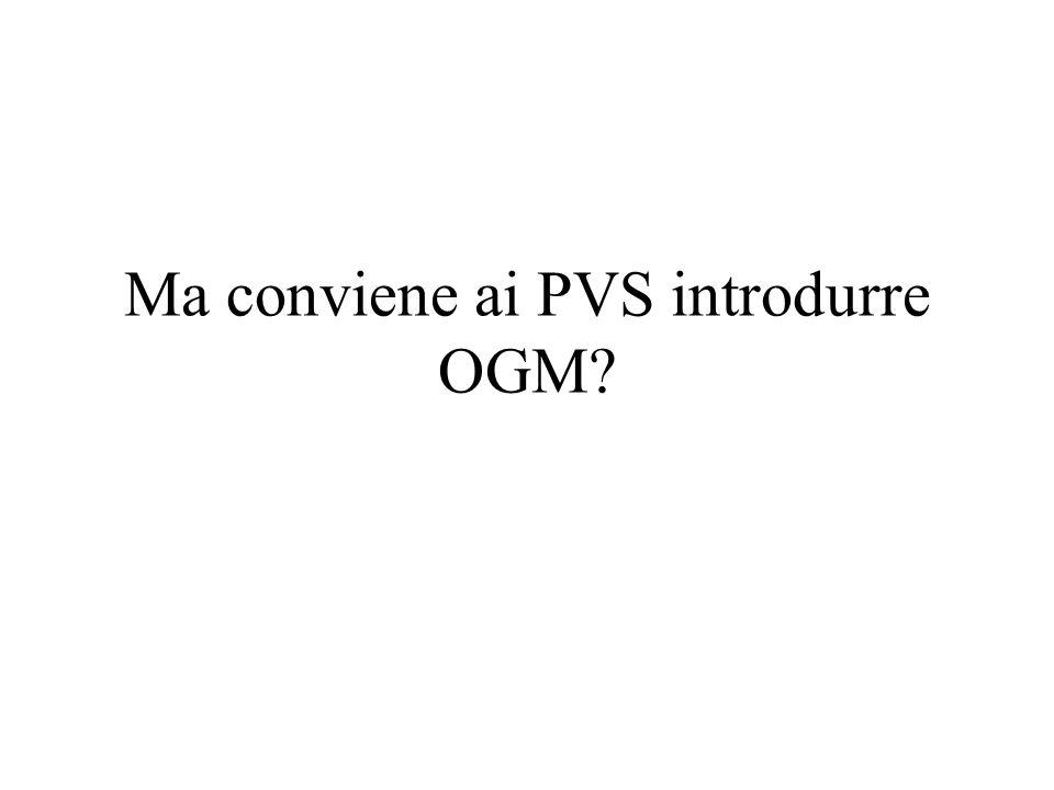 Ma conviene ai PVS introdurre OGM