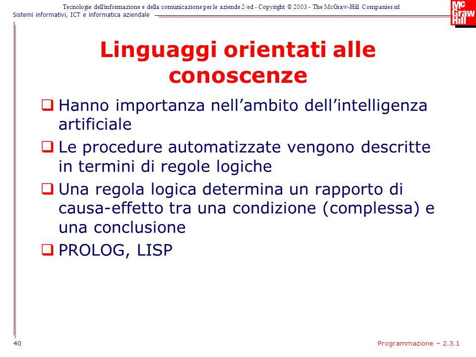Linguaggi orientati alle conoscenze