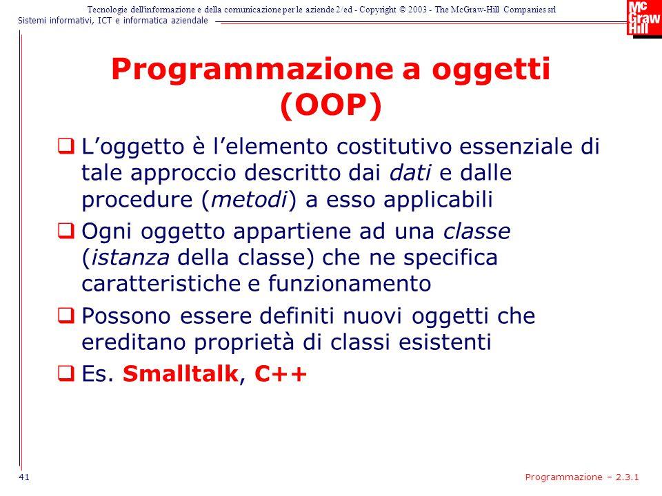 Programmazione a oggetti (OOP)