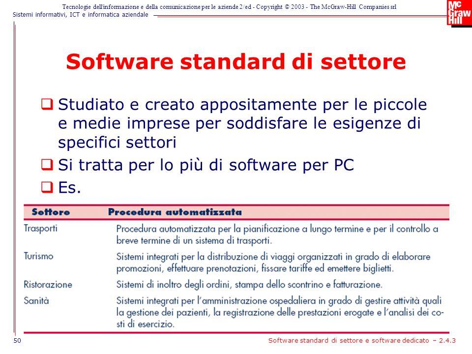 Software standard di settore