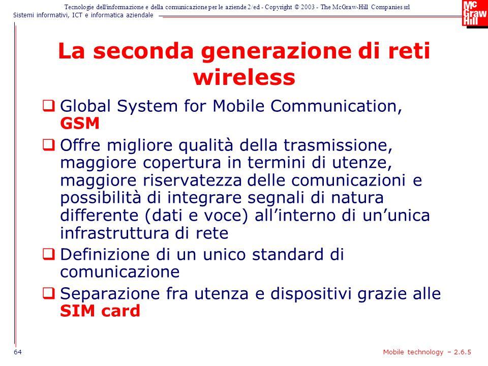 La seconda generazione di reti wireless