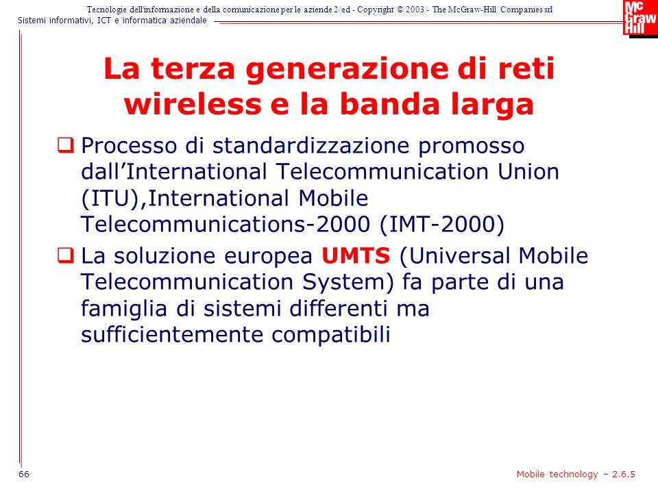 La terza generazione di reti wireless e la banda larga