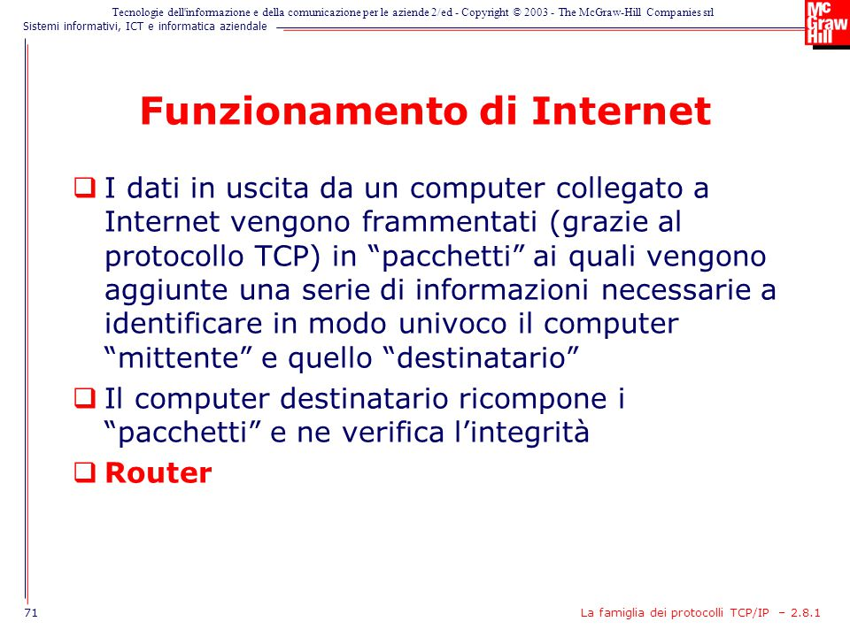Funzionamento di Internet