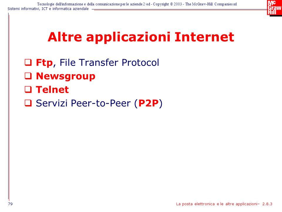 Altre applicazioni Internet