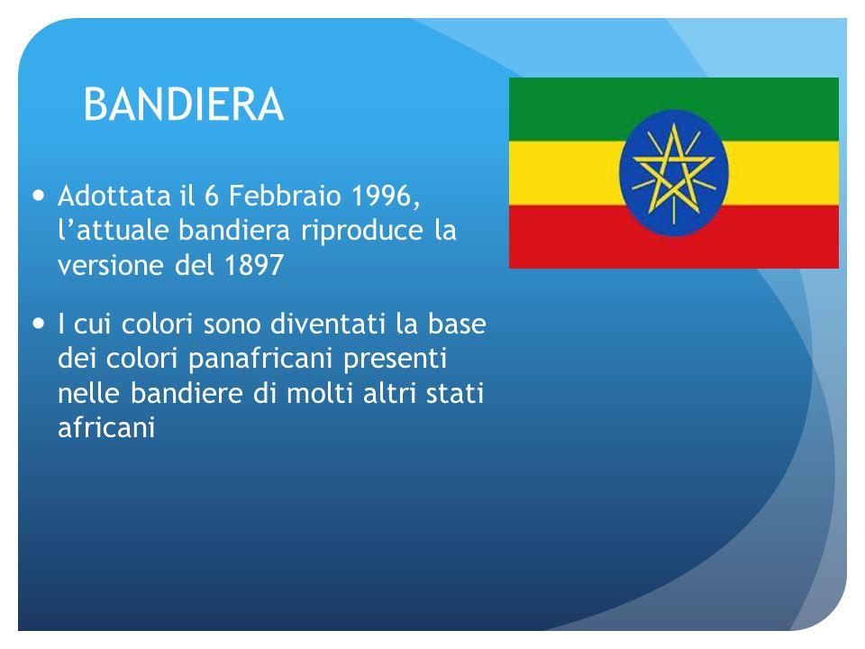BANDIERA Adottata il 6 Febbraio 1996, l'attuale bandiera riproduce la versione del 1897.