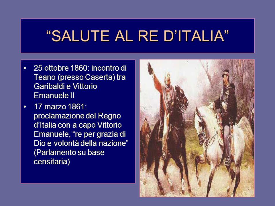 SALUTE AL RE D'ITALIA