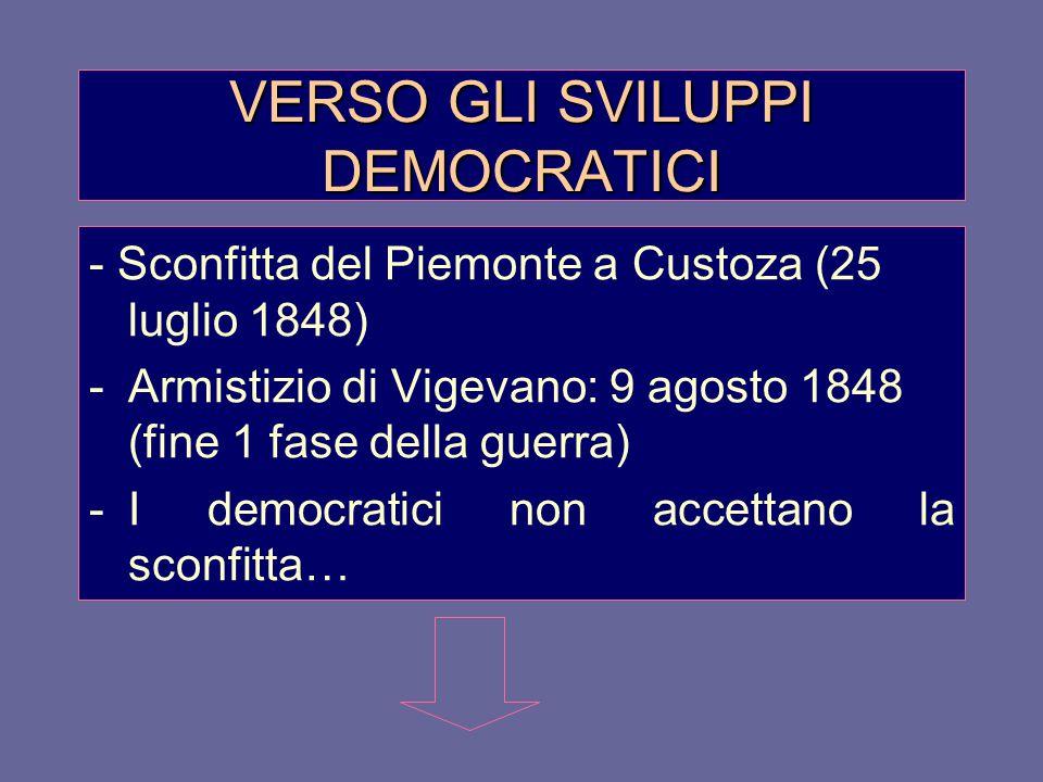 VERSO GLI SVILUPPI DEMOCRATICI